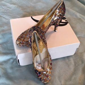 Nine West Sequin Heels New in Box!